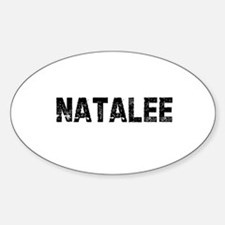 Natalee Oval Decal