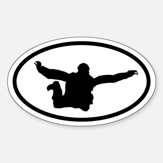 Skydiver Free Fall Oval Decal