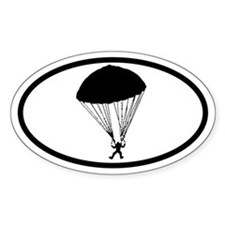Parachute Skydiving Oval Decal