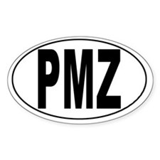 Palmar, Costa Rica Airport Oval Decal