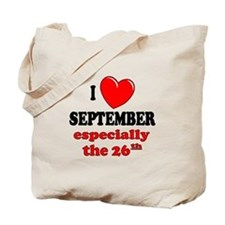 September 26th Tote Bag
