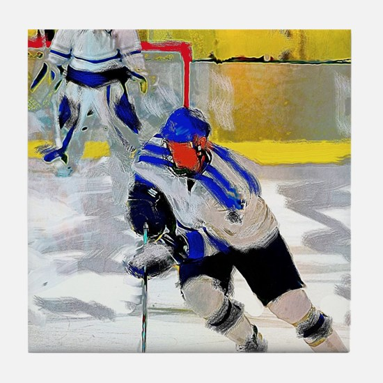 Cute Ice hockey Tile Coaster