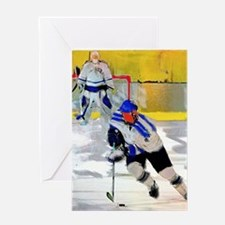 Cute Hockey players Greeting Card