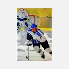 Cute Hockey players Rectangle Magnet
