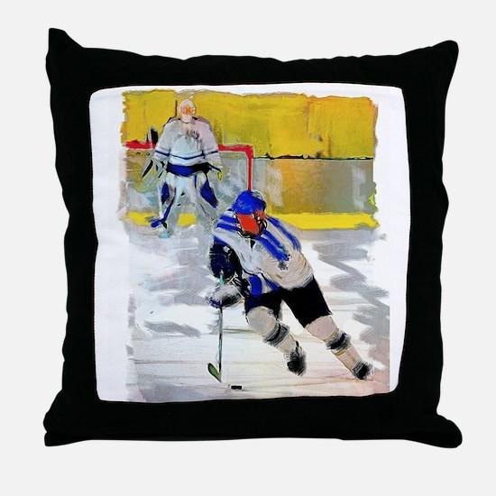 Hockey players Throw Pillow