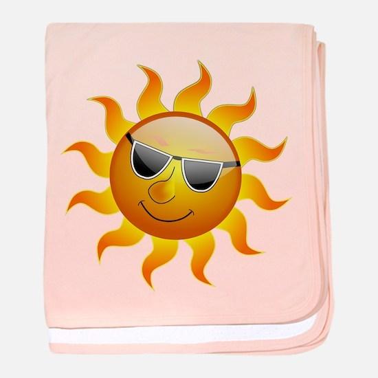 Summer Sun Smile baby blanket