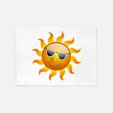 Summer Sun Smile 5'x7'Area Rug