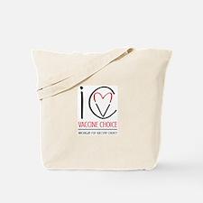 I Heart Vaccine Choice Mvc Tote Bag