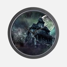 The Haunted House Wall Clock