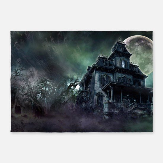 The Haunted House 5'x7'Area Rug