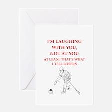 curling joke Greeting Cards
