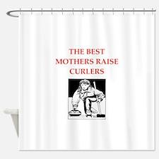 curling joke Shower Curtain