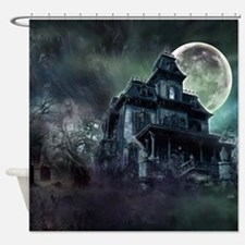 The Haunted House Shower Curtain
