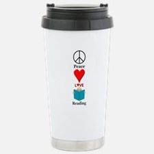 Peace Love Reading Travel Mug
