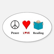 Peace Love Reading Decal