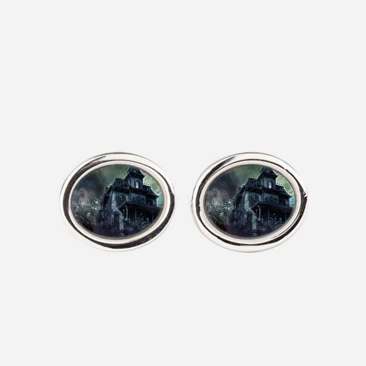 The Haunted House Oval Cufflinks