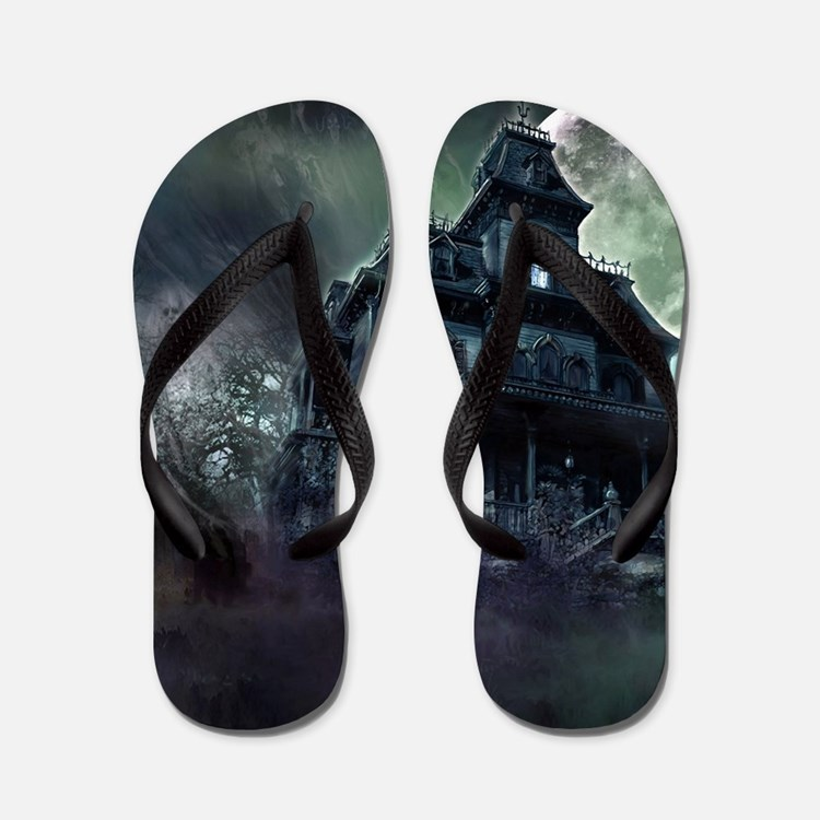 The Haunted House Flip Flops