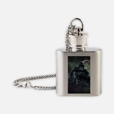 The Haunted House Flask Necklace