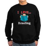 I Love Reading Sweatshirt (dark)
