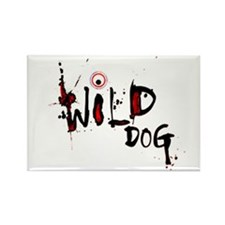Wild Dog Rectangle Magnet