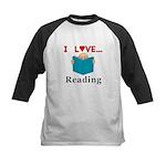 I Love Reading Kids Baseball Jersey