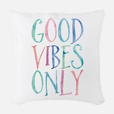 Good Vibes Only Woven Throw Pillow