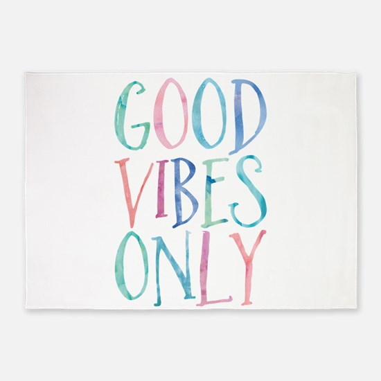 Good Vibes Only 5'x7'Area Rug