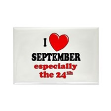 September 24th Rectangle Magnet