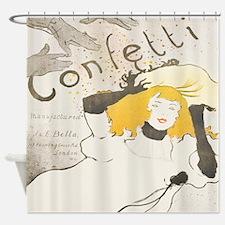 Funny Confetti Shower Curtain