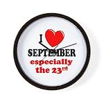 September 23rd Wall Clock