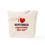 September 23rd Tote Bag