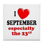 September 23rd Tile Coaster