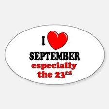 September 23rd Oval Decal