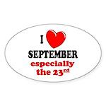 September 23rd Oval Sticker