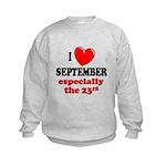 September 23rd Kids Sweatshirt