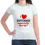 September 23rd Jr. Ringer T-Shirt