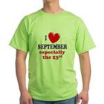 September 23rd Green T-Shirt