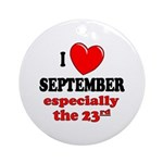 September 23rd Ornament (Round)