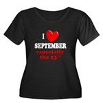 September 23rd Women's Plus Size Scoop Neck Dark T