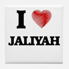 I Love Jaliyah Tile Coaster