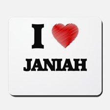 I Love Janiah Mousepad