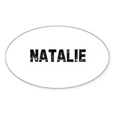 Natalie Oval Decal
