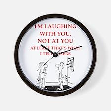 darts joke Wall Clock