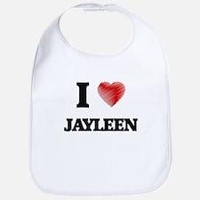 I Love Jayleen Bib