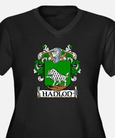 Hanlon Coat of Arms Women's Plus Size V-Neck Dark