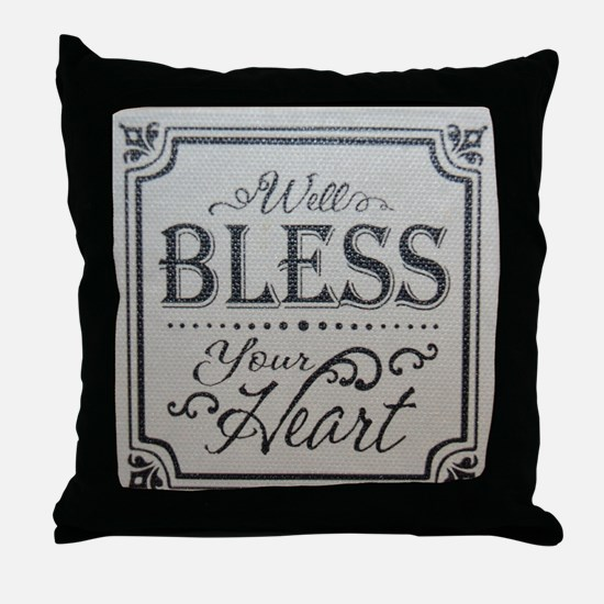 Funny Bless your heart Throw Pillow