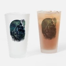 The Haunted House Drinking Glass