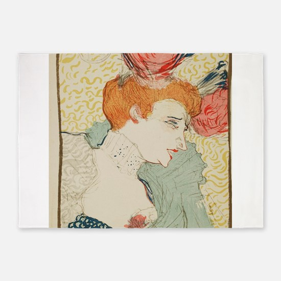 Vintage poster - Woman 5'x7'Area Rug