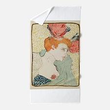 Vintage poster - Woman Beach Towel