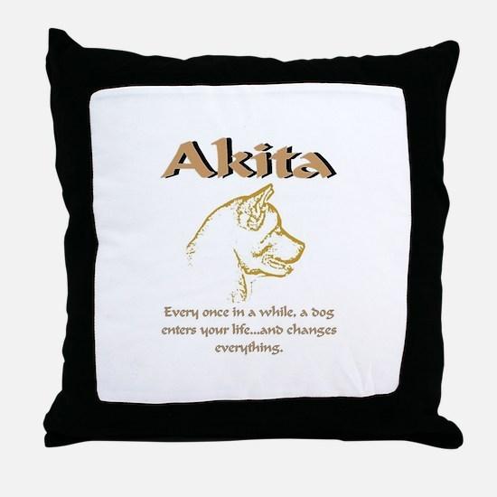 Akita Love Throw Pillow